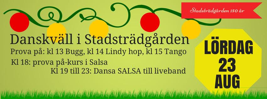 Danskväll i Stadsträdgården 23:8 2014